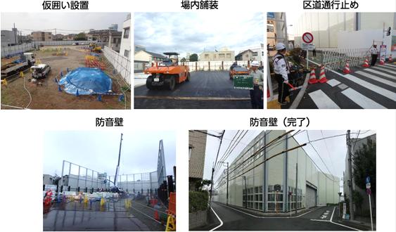 図:施工基地の状況(防音壁設置)